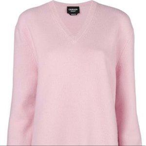 CALVIN KLEIN Womens Pink V neck sweater